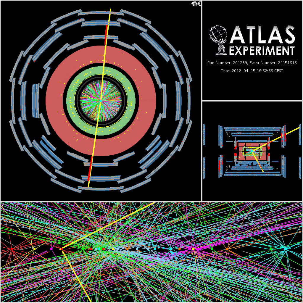 Defending Your Life Part 3 Atlas Experiment At Cern Turn Out Wiring Diagram One Of Our Events With Lots Pile Up Many Standard Proton Collisions Dot For Each On Top That Were Interested In The