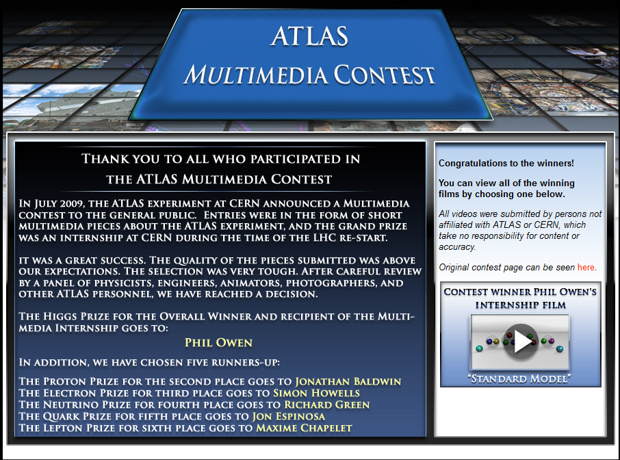 A new multimedia contest has been set up to put talented young filmmakers  and science communicators in touch with ATLAS. aeff026fb2cf